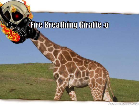 Fire breathing giraffe by Zayan