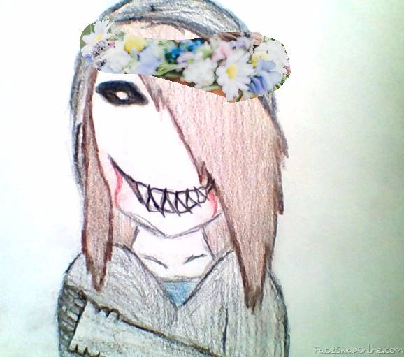 Joy Kill Kaylie with flower crown