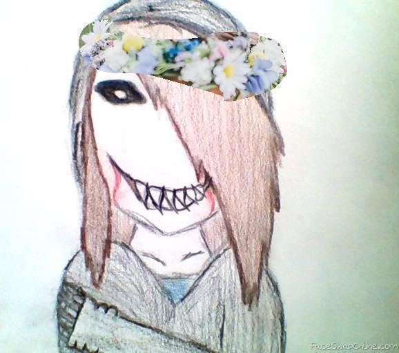 Joy Kill Kaylie with flower crown
