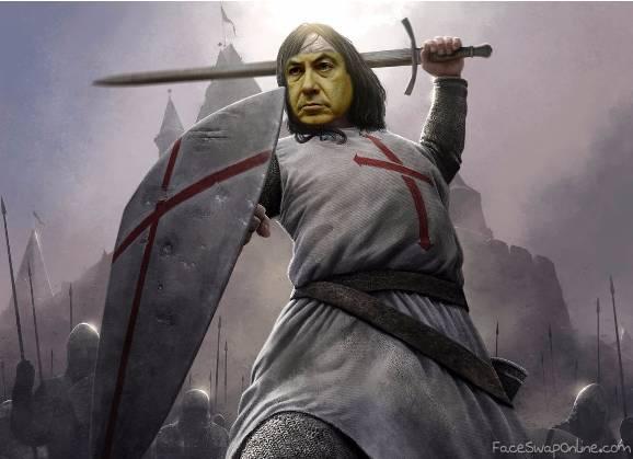 Netanyahu, knight of the cross