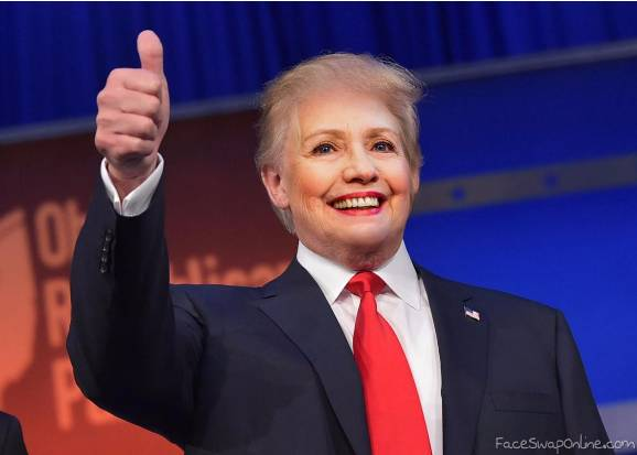 President Trumpton - Donald Trump and Hillary Clinton Face Swap