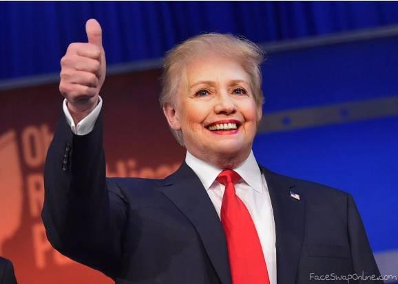 President Trumpton - Donald Trump and Hillary Clinton Face Swap
