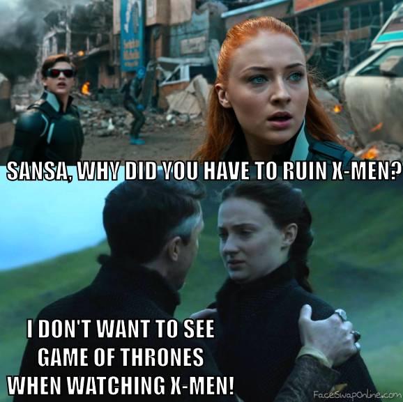 Sansa Stark ruins X-Men