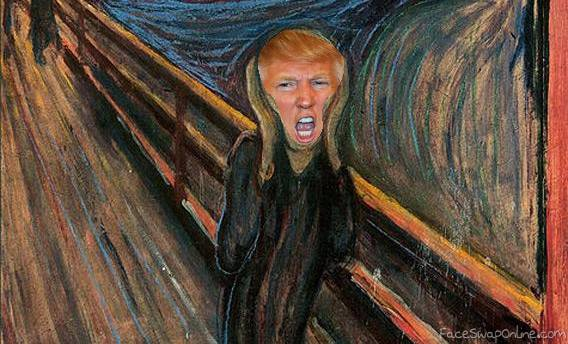 The screaming Trump