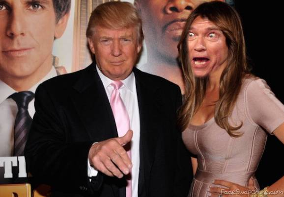 Trump with a freak