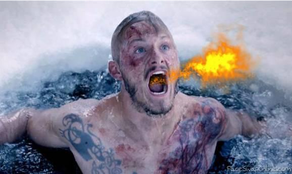 Vikings season 4 Bjorn spitting fire