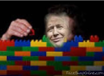 donald trump = wall