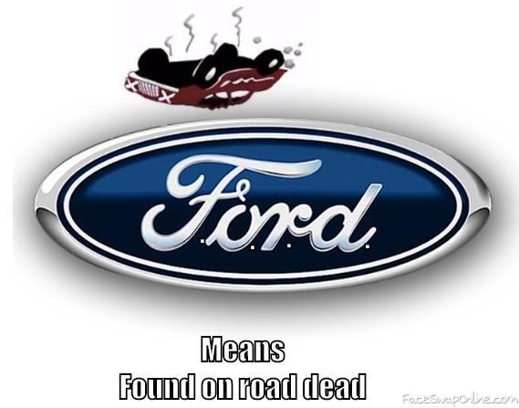f.o.r.d. found on road dead
