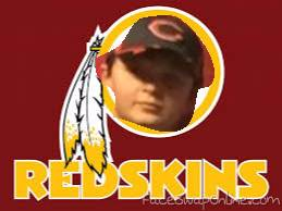my bro in redskins logo